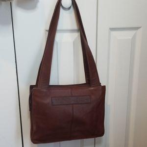 Fossil Brown Leather 1954 Shoulder Bag # 75082